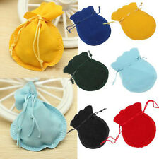 10PCs 9x7cm Velvet Drawstring Pouches Coin Jewelry Wedding Gift Bag Jewelry Bag