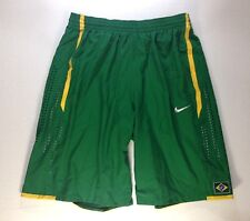 NIKE AUTHENTIC BRAZIL NATIONAL TEAM BASKETBALL GAME JERSEY SHORTS FIBA 2XL XXL