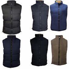 Mens Quilted Padded Lined Gilet Gillet Sleeveless Coat Body Warmer Jacket M- 3XL