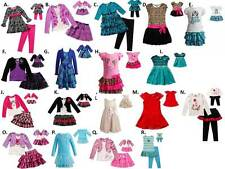 "Dollie Me 2-16 and 18"" doll matching Pajama or dress ft american girl Christmas"