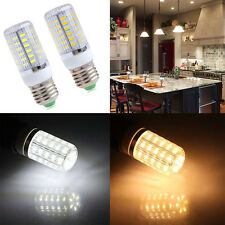 E27 12W 56SMD Warm Cool White Powerful LED Light Corn Lamp Bulb 1500LM 220V/110V