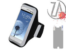 For LG Black Adjustable Vertical Pouch Sleeve Sport Armband FREE Screen Guard