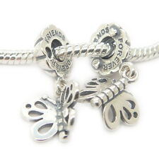 A Pairs Best Friends Forever Butterfly Dangle Authentic 925 sterling silver bead