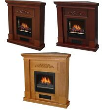 Electric Fireplace Television TV Stand Heater Flat or Corner Mantle PICK COLOR