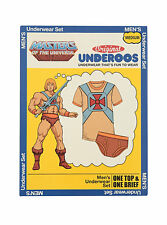 ADULT HE-MAN Underoos Underwear Top Tee Shirt & Briefs Mens S M L XL