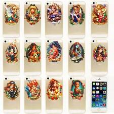 i5 PD Ultra Thin 0.3mm Disney Tattoo Princess Rubber PC Back Case For iPhone 5 S
