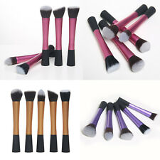 5pcs Makeup Brushes Set Cosmetic Tool Powder Blush Foundation Contour 3 Colors