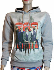 NEW LIMITED One Direction Hoody Ladies 1D Sweatshirt Grey Girls Tops Jumper