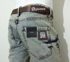 DSQUARED2 MAN JEANS LIGHT BLUE STONEWASHED w:30-31-32-33-34-36  model: 3318