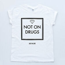 NOT ON DRUGS TSHIRT Indie Diamond Love High Tee Hipster Festival No Pirlo Top