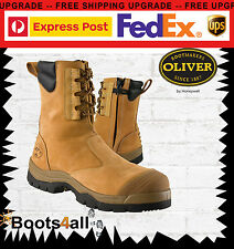 New Oliver AT's Work Boots Zip Up Safety/ Steel Toe Cap Hi Leg Mining 55285