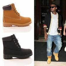 MENS LACE UP ANKLE BOOTS CASUAL COMBAT WALKING WORK GRIP SOLE FASHION CELEB SIZE