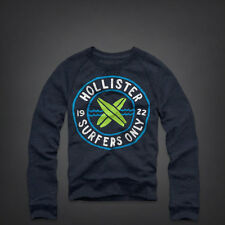 Hollister by Abercrombie & Fitch!New Mens Navy Blue Pullover Crew Sweatshirt-SM