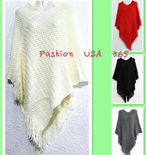 New Fashion Women Winter Cozy Poncho/Bat-wing Style Sweater Coat-U.S Shipping