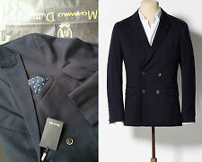 SUPERSALE! NWT Men Double Breasted MASSIMO DUTTI Blue Blazer RRP165€ UK38-40-42