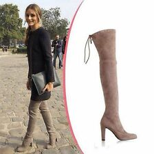 Sexy Womens High Heel Pointy Toe suede Over The Knee Thigh High Boots Shoes