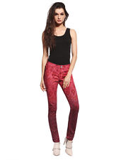 LADIES SKINNY FIT COLOURED STRETCHY JEANS WOMENS SLIM STYLES DENIM TROUSERS 2-10