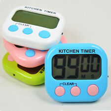 Kitchen Large Digital LCD Cooking Timer Count Down Up Clock Loud Alarm F1R