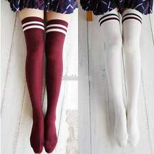 New Women Lady Girl Over The Knee Cotton Socks Thigh High Cotton Stockings EFFU