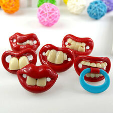 Funny Teeth Silicone Pacifier Dummy Nipple for Toddler Baby Kids