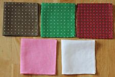 PURE LINEN POCKET SQUARE HANKERCHIEFS. HAND MADE NEW.