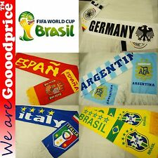 BRAZIL WORLD CUP 2014 FOOTBALL Fans SCARF Argentina Brazil Germany Italy Spain