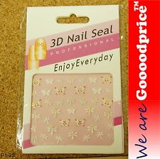 3D Nail Art Seal Beautiful Flowers Nail/Toe Stickers Pack Party&Ladies Gift 1-25