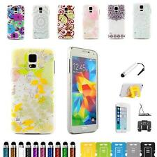 For Samsung Galaxy S5 i9600 Textured Art Frost Transparent Hard Case Cover