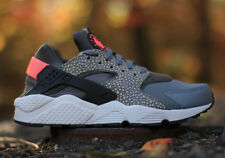 NIKE AIR HUARACHE SAFARI PREMIUM BAMBOO COOL GREY BLACK HYPERPUNCH UK 5-14