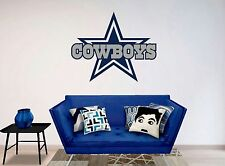 DALLAS COWBOYS Logo ~ WALL DECAL * Vinyl STICKER ~ ANY COLORS