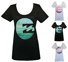 BILLABONG New Ladies Surf Cotton T Shirt Tee Top Size (8 10 12 14)