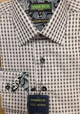 Inserch Men's Gray Plaid Shirt, NWT