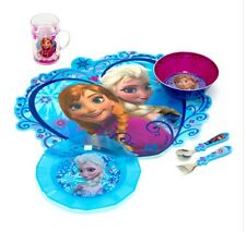Official Disney Store Elsa Anna Frozen Cutlery,Placemat,Bowl,Plate lunch gift