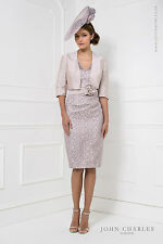 25774 JOHN CHARLES BLUSH LACE MOTHER OF BRIDE DRESS & JACKET RRP £789 SAVE 30%
