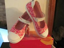 AGATHA RUIZ DE LA PRADA PINK  WHITE HEARTS CASUAL SHOES NEW IN ORIGINAL BOX