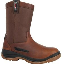 "Men's Rocky 10"" ErgoTuff Cool Wellington Work Boot Brown 2426"