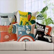 Captain America Heroe Superman Spider-man Batman Iron man Soft Throw Pillow Case
