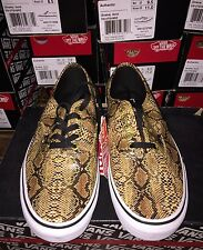 New Mens Vans Authentic (Snake) Gold 100% AUTHENTIC FREE SHIP sz 6.5-13