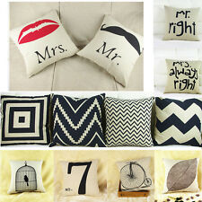 NEW Simple Fashion linen Throw Pillow Cases Home Decorative Cushion Cover