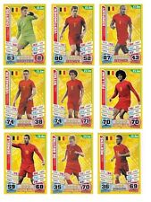 Match Attax England 2014 World Cup Trading Cards (BELGIUM-Base) 18-29