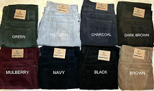 EX MARKS & SPENCER MENS CORDUROY/CORD TROUSERS 8 COLOURS STRAIGHT LEG 3LENGTHS