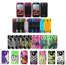 T Stand Kickstand Hybrid Heavy Duty Shockproof Cell Phone Protector Case Cover