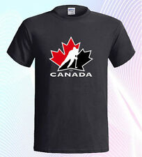 Canadian National Ice Hockey Team Logo Canada Men's T-Shirt Size S to 3XL