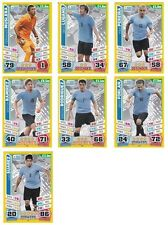 Match Attax England 2014 World Cup Trading Cards (URUGUAY-Base) 225-231
