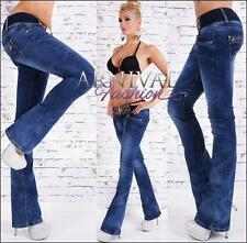NEW hot BELT + BLUE BOOTCUT JEANS shop online BOOTLEG DENIM JEAN PANTS for WOMEN