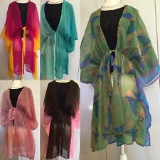 Women Hippy Boho Loose batwings Blouse dress long Tee Shirt Chiffon Tunic Top