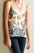Eloise Blue Blooms Cami Top Size XS, S, M Blue Motif NW ANTHROPOLOGIE Tag