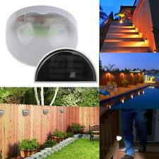 Garden Path Wall Gutter Fence Solar Powered Power LED Lamp Lights for Outdoor H1