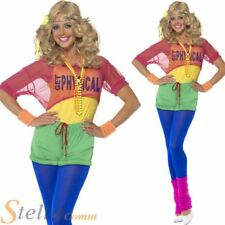Lets Get Physical 80s Ladies Womens Fancy Dress Costume Olivia Dance Outfit
