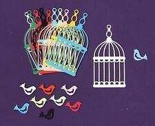 Birdcage & Bird Die Cuts, 5 pcs or 10 pcs - Bird Die Cuts - Bird Cage Die Cuts